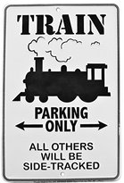 T&G Train Parking Only Embossed Tin Sign