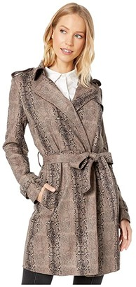 Love Token Franky Belted Wrap Coat (Snake) Women's Clothing