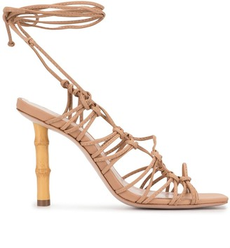 Schutz Lace-Up 80mm Heeled Sandals