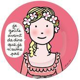 Princess Manners Plate - I taste before saying I don't like something