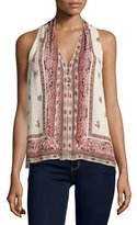Joie Valles Print Top, Almond