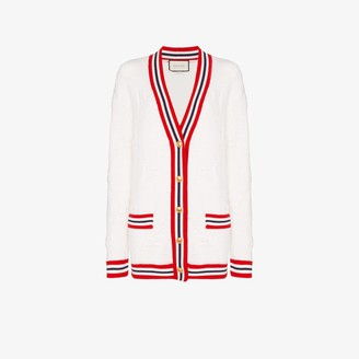 Gucci Stripe Trim Knitted Cardigan
