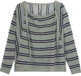 Soyer Baja Draped Striped Linen And Cotton-Blend Sweater