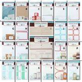 Martha Stewart Crafts Martha Stewart Labels Adhesive Removable Kitchen Kraft Metallic Dry Erase Gift +