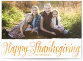 Minted Autumn Script Thanksgiving Cards