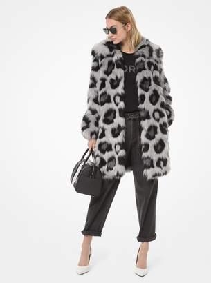 MICHAEL Michael Kors Leopard Faux Fur Coat