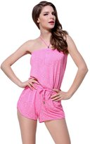 YOUJIA Womens Beach Romper Short Pant Jumpsuit With Spaghetti Straps (2XL,)