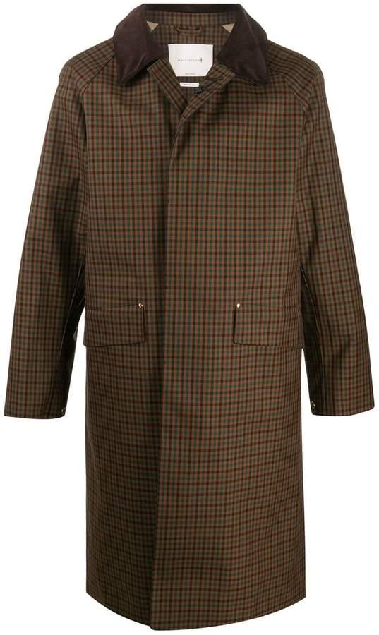 MACKINTOSH checked single-breasted coat