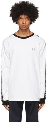 Acne Studios White Logo Stripe Long Sleeve T-Shirt