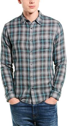 Vince Plaid Classic Fit Woven Shirt