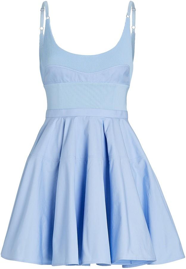 Alexander Wang Poplin Fit-and-Flare Mini Dress