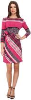 Donna Morgan 3/4 Sleeve Jersey Side Tie Dress