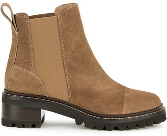 See by Chloe Brown Brushed Suede Chelsea Boots