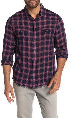 Frame Sentinel Plaid Print Slim Fit Western Shirt
