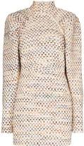 Kim pouf-sleeve mini dress