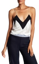 Pierre Balmain Colorblock Silk Tank