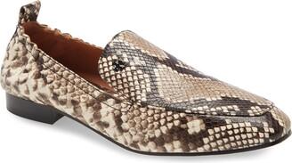 Tory Burch Kira Snake Embossed Stretch Travel Loafer