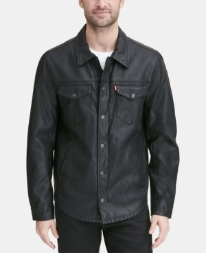 Levi's Men's Faux Leather Shirt Jacket