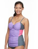 Free Country Women's Colorblock Mesh Tankini Top