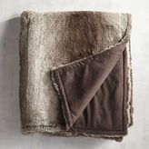Pier 1 Imports Ombre Faux Fur Gray Throw