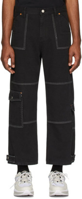 ANDERSSON BELL Black Denim Carpenter Trousers