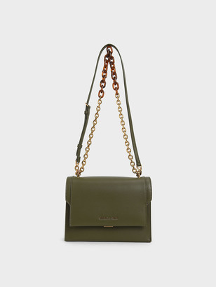 Charles & Keith Chunky Chain-Link Crossbody Bag