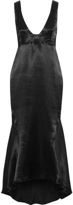 Beaufille Nodus Fluted Satin Midi Dress