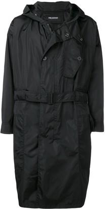 Neil Barrett Hooded Belted Coat