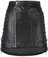 Diesel Black Gold lace-up side mini skirt
