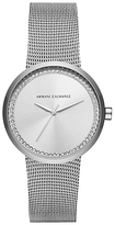 Armani Exchange Women's Crystal Mesh Bracelet Strap Watch