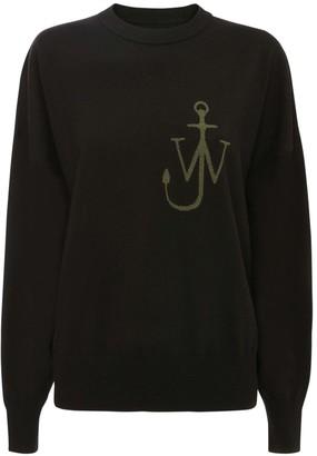 J.W.Anderson Anchor Logo Wool Knit Crewneck Sweater