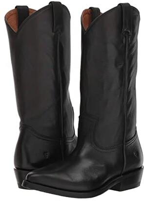 Frye Billy Pull-On (Black Polished Soft Full Grain) Women's Boots