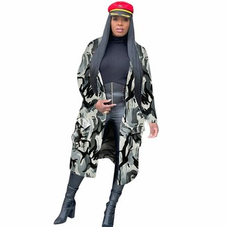 359 Women's Winter Hoodie Coat Fashion Loose Casual Camouflage