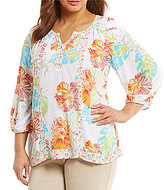 Westbound Plus Combo Peasant Top