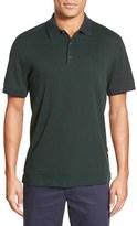 AG Jeans Men's Green Label 'Delancy' Trim Fit Cotton Jersey Polo