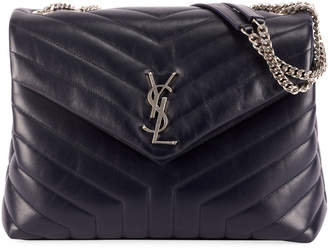 Saint Laurent Loulou Medium Matelasse Calfskin Flap-Top Shoulder Bag