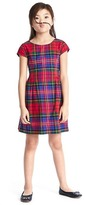 Gap Plaid fit & flare flannel dress