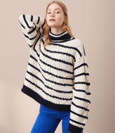 Lou & Grey Striped Cable Sweater