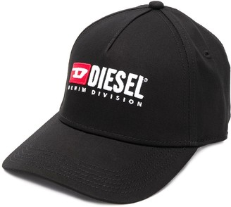 Diesel embroidered logo baseball cap