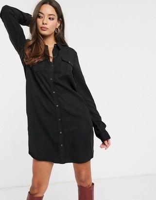 Vero Moda shirt dress in black