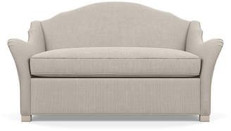 Bunny Williams Home Pierre Loveseat - Gray Stripe frame, alpine; upholstery, gray/ivory