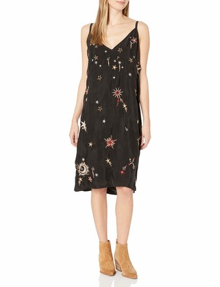 3J Workshop by Johnny was Women's Slip Dress with Star and Moon Print