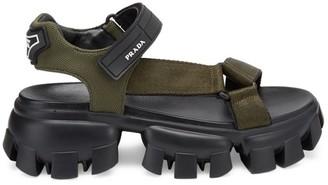Prada Creeper Platform Sport Sandals