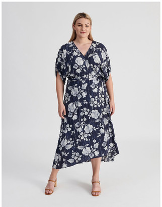Piper Ruched Short Sleeve Wrap Dress