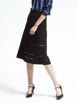 Banana Republic Fit-and-Flare Midi Skirt