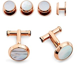 Montblanc Mother-of-Pearl Stud & Cufflink Set