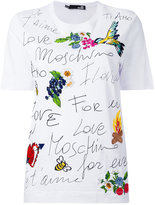 Love Moschino printed embroidered T-shirt - women - Cotton - 46