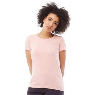 Fluid Womens Basic T-Shirt Pink
