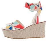 Alice + Olivia Printed Espadrille Wedges