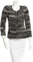 Etoile Isabel Marant Leather-Trimmed Tweed Jacket